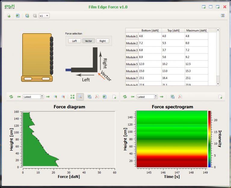 FEF-200 software screenshot